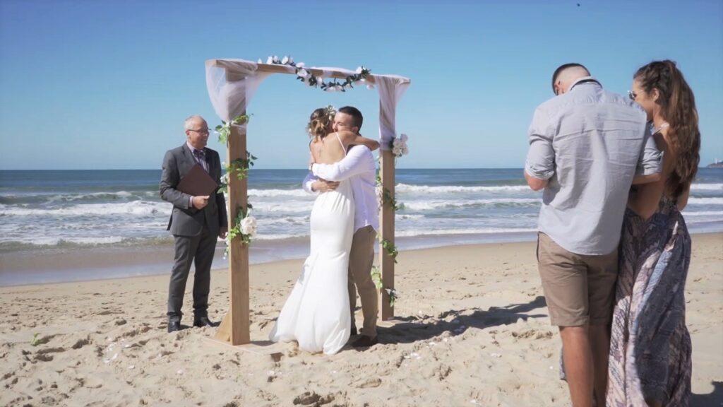 Beach wedding location on Sunshine Coast